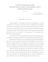 VAI TRÒ CỦA ĐỒ DÙNG DẠY HỌC GÓP PHẦN NÂNG CAO CHẤT LƯỢNG GIÁO DỤC TRÍ DỤC TRONG BỘ MÔN HÓA HỌC