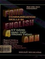 4 kỹ năng giao tiếp trong tiếng Anh