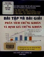 Bài tập và bài giải phân tích chứng khoán và định giá chứng khoán