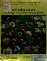 Chế biến surimi và các sản phẩm thủy sản gốc surimi