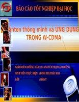 1BÁO cáo tốt NGHIỆP đại học đề tài  ANTEN THÔNG MINH và ỨNG DỤNG TRONG  W CDMA