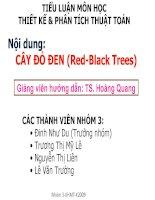 Tiểu luận Phân tích và thiết kế thuật toán CÂY ĐỎ ĐEN Red-Black Trees