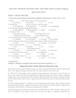 BÀI THỰC HÀNH ôn THI CÔNG CHỨC THUẾ môn TIẾNG ANH b ( có đáp án)