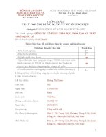 Mẫu Thông báo thay đổi nội dung đăng ký doanh nghiệp