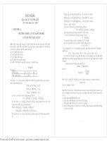 Giải bài tập xác suất và thống kê toán