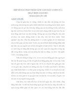 SKKN MỘT SỐ GIẢI PHÁP NHẰM NÂNG CAO CHẤT LƯỢNG CỦA HOẠT ĐỘNG GIÁO DỤC