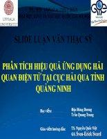 SLIDE LUẬN văn THẠC sỹ PHÂN TÍCH HIỆU QUẢ ỨNG DỤNG hải QUAN điện tử tại cục hải QUA TỈNH QUẢNG NINH