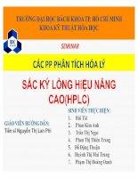 các phương pháp phân tích hóa lý sắc ký lỏng hiệu năng cao(hplc)