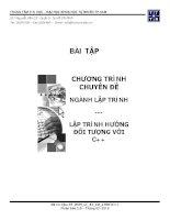 BÀI TẬP CHƯƠNG TRÌNH CHUYÊN ĐỀ NGÀNH LẬP TRÌNH -LẬP TRÌNH HƯỚNG ĐỐI TƯỢNG VỚI C++