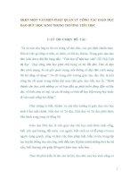 SKKN MỘT VÀI BIỆN PHÁP QUẢN LÝ CÔNG TÁC GIÁO DỤC ĐẠO ĐỨC HỌC SINH TRONG TRƯỜNG TIỂU HỌC