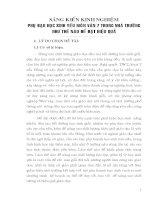 PHỤ ĐẠO HỌC SINH YẾU MÔN VĂN 7 TRONG NHÀ TRƯỜNG NHƯ THẾ NÀO ĐỂ ĐẠT HIỆU QUẢ