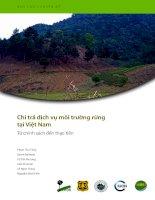 Chi trả dịch vụ môi trường rừng tại Việt Nam Từ chính sách đến thực tiễn