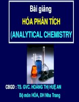 Bài giảng HÓA PHÂN TÍCH (ANALYTICAL CHEMISTRY