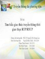 Tìm hiểu giao thức truyền thông thời gian thực RTP-RTCP