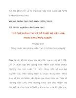 Tiểu Luận Thể chế chính trị và tổ chức bộ máy nhà nước các nước asean