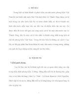 Tiểu Luận Những cải cách ở Lục Bộ dưới triều vua Lê Thánh Tông.