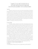 NGHIÊN CỨU ðẶC ðIỂM TÁI SINH DƯỚI TÁN RỪNG KÍN THƯỜNG XANH ẨM Á NHIỆT ðỚI TẠI VƯỜN QUỐC GIA BIDOUP- NÚI BÀ, TỈNH LÂM ðỒNG