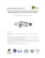 Cải thiện công nghệ sản xuất giống và nuôi thương phẩm cá mú nuôi trồng thủy sản trong khu vực châu ÁThái Bình Dương