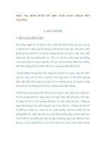 SKKN MỘT VÀI BIỆN PHÁP ĐỂ HỌC SINH HAM THÍCH ĐẾN TRƯỜNG