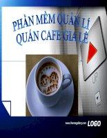 phần mềm quản lý quán cafe gia lê