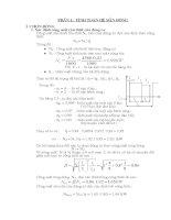 Tính toán thiết kế bộ truyền xích con lăn, hộp giản tốc đồng trục.DOC