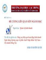 Nâng cao hiệu quả hoạt động kinh doanh của ngân hàng thương mại cổ phần Xuất Nhập Khẩu Việt Nam - Chi nhánh Đồng Nai