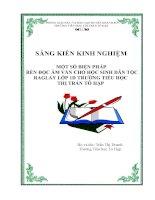 SKKN Một số biện pháp rèn đọc âm, vần cho học sinh dân tộc Raglai lớp 1D trường tiểu học thị trấn Tô Hạp