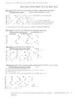 Tổng hợp bài tập căn thức bậc 2 Lớp 9