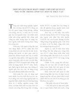 MỘT SỐ GIẢI PHÁP HOÀN THIỆN THỂ CHẾ QUẢN LÝ NHÀ NƯỚC TRONG LĨNH VỰC BẢO VỆ THỰC VẬT