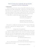 Các dạng đề văn ôn thi Đại học bài TÂY TIẾN của Quang Dũng