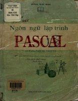 Ngôn ngữ lập trình Pascal. Giáo trình cơ bản, dễ học, dành cho tất cả mọi người - Học sinh phổ thông, sinh viên