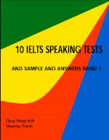 10 ielts speaking tests and sample and answer band 7