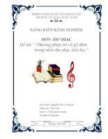 SKKN_Phương pháp ôn và gõ đệm trong môn âm nhạc tiểu học