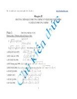 Chuyên đề ôn thi THPT Quốc gia chọn lọc: Phương trình, bất phương trình, hệ phương trình.