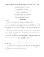 Các dạng đề văn ôn thi Đại học bài VIỆT BẮC của Tố Hữu