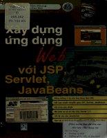 Xây dựng ứng dụng Web với JSP, Servlet, Javabeans - Giáo trình tin học ứng dụng