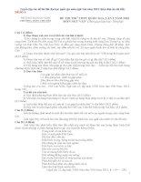Tuyển tập các đề thi thử Đại học quốc gia môn ngữ văn năm 2015 (kèm đáp án chi tiết)