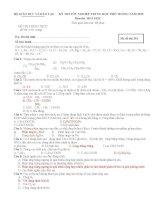 Đề thi thử tốt nghiệp trung học phổ thông môn hóa học 2015 đáp án chi tiết