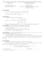 Đề thi học sinh giỏi lớp 12 môn toán năm học 2011-2012 tỉnh Cao Bằng