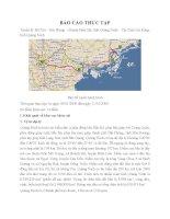 báo cáo thực tập khảo sát điểm nóng về môi trường và tai biến của tỉnh Quảng Ninh