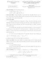 Đề thi học sinh giỏi môn toán lớp 11 năm học 2014-2015 tỉnh Cao Bằng