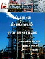 Tiểu luận môn Sản phẩm dầu mỏ: Tìm hiểu về xăng