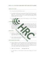 HRC mẫu CV cho sinh viên mới tốt nghiệp
