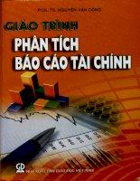 Giáo trình Phân tích báo cáo tài chính
