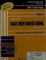NET toàn tập - Tập 3. Lập trình giao diện người dùng theo C#