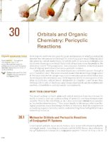 Chater 30   orbitals and organic chemistry pericyclic reactions