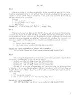 Bài tập lập và quản lý Dự án Đầu tư