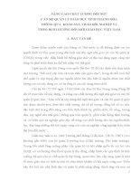 SKKN Nâng cao chất lượng đội ngũ cán bộ quản lý giáo dục tỉnh Thanh Hóa thông qua khảo sát, trao đổi nghiệp vụ theo định hướng đổi mới giáo dục Việt Nam