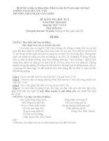 Bộ đề thi và đáp án tham khảo kiểm tra học kỳ II môn ngữ văn lớp 9