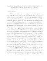 CHUYÊN đề  ĐÁNH GIÁ KHẢ NĂNG ỨNG DỤNG của CHẤT GIỮ ẩm CH đối với cây bắp tại HUYỆN ĐỊNH QUÁN, ĐỒNG NAI